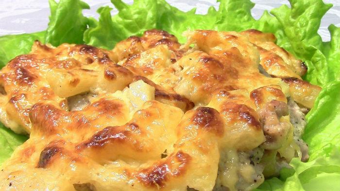Мясо с фаршем и ананасами фото