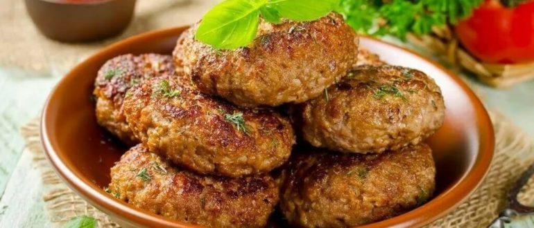 Котлеты из свинины и говядины фото